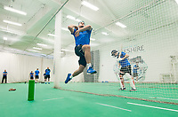 Picture by Allan McKenzie/SWpix.com - 05/04/2018 - Cricket - Yorkshire County Cricket Club Training - Headingley Cricket Ground, Leeds, England - Jack Brooks bowls in the nets.