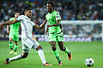 Real Madrid's Carlos Henrique Casemiro and Sporting Clube de Portugal's Gelson Martins during the match of Champions League group 6 round 1, between Real Madrid an Sporting Clube de Portugal at Santiago Bernabeu Stadium in Madrid September 14, 2016. (ALTERPHOTOS/Rodrigo Jimenez)