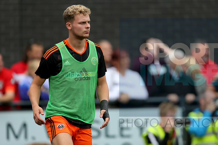 Jake Wright of Sheffield Utd during the pre season match at the Flamingo Land Stadium, Scarborough. Picture date 15th July 2017. Picture credit should read: Richard Sellers/Sportimage
