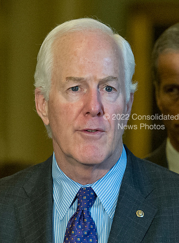 United States Senator John Cornyn (Republican of Texas)  speaks to reporters following the Republican Party luncheon in the United States Capitol in Washington, DC on Tuesday, July 11, 2017.  <br /> Credit: Ron Sachs / CNP