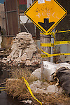 NEW YORK, NY -- OCTOBER 22, 2013:  Banksy's sphinx sculpture is seen on 127th Street on October 22, 2013 in Willets Point, Queens, NY.  Photographer: Michael Nagle for The New York Times