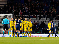 19th November 2019; Hampden Park, Glasgow, Scotland; European Championships 2020 Qualifier, Scotland versus Kazakhstan; John McGinn of Scotland scores the equaliser from a free kick to make it 1-1 in the 48th minute