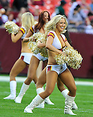 The Washington Redskins cheerleaders perform prior to the game against the Buffalo Bills at FedEx Field in Landover, Maryland on Friday, August 13, 2010.  The Redskins won the game 42 - 17..Credit: Ron Sachs / CNP