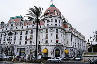 The famous Hotel Negresco on the Promenade des Anglais in Nice, southern France.