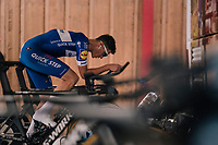 Niki Terpstra (NED/Quick-Step Floors) on the rollers prerace<br /> <br /> UCI MEN'S TEAM TIME TRIAL<br /> Ötztal to Innsbruck: 62.8 km<br /> <br /> UCI 2018 Road World Championships<br /> Innsbruck - Tirol / Austria