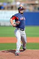Boston Red Sox pitcher Chris Hernandez #83 during a Grapefruit League Spring Training game against the Tampa Bay Rays at Charlotte County Sports Park on February 25, 2013 in Port Charlotte, Florida.  Tampa Bay defeated Boston 6-3.  (Mike Janes/Four Seam Images)