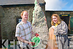 Valentia Candle-maker, John Harvey and Kristian Ball with Ireland's largest candle