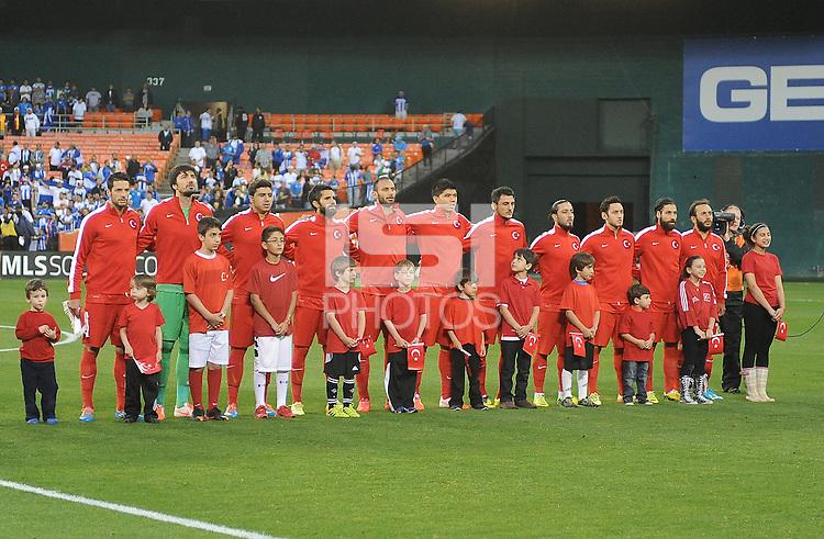 Washington, D.C.- May 29, 2014. Turkey National Team.  Turkey defeated Honduras 2-0 during an international friendly game at RFK Stadium.