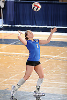 20 November 2008:  Middle Tennessee defensive specialist Ashley Waugh (2) serves during the Middle Tennessee 3-0 victory over Arkansas State in the first round of the Sun Belt Conference Championship tournament at FIU Stadium in Miami, Florida.