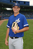 July 14th, 2007:  Zach Jevne of the Aberdeen Ironbirds, Class-A Short-Season affiliate of the Baltimore Orioles, poses for a photo before a game vs the Jamestown Jammers in New York-Penn League action.  Photo Copyright Mike Janes Photography 2007.