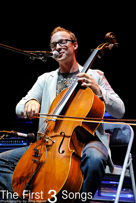 Ben Sollee performs at Memorial Coliseum on the campus of the University of Kentucky in Lexington, KY.