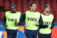 Carlos Bocanegra of USA during training at Ellis Park, Johannesburg  on June 27, 2009 in preparation for the FIFA Confederations Cup Final against Brazil.