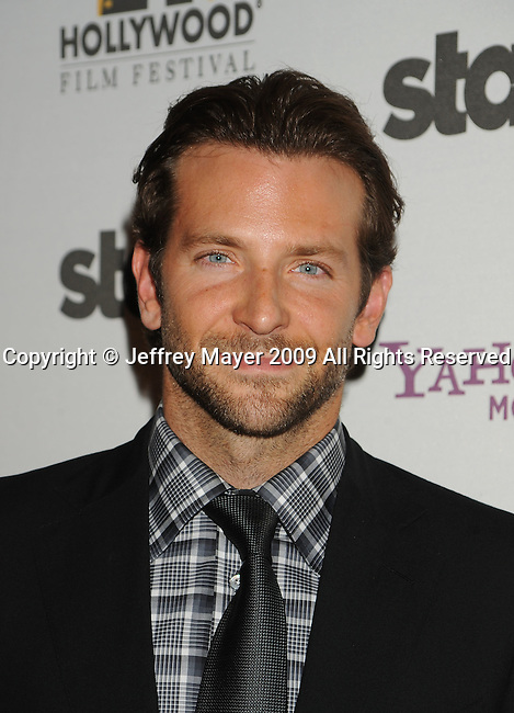 BEVERLY HILLS, CA. - October 26: Bradley Cooper arrives at the 13th annual Hollywood Awards Gala Ceremony held at The Beverly Hilton Hotel on October 26, 2009 in Beverly Hills, California.