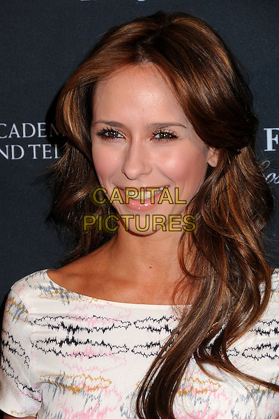 JENNIFER LOVE HEWITT  .17th Annual BAFTA Los Angeles Awards Season Tea Party held at the Four Seasons Hotel, Beverly Hills, California, USA, 15th January 2011..portrait headshot smiling make-up beauty white pink print cream .CAP/ADM/BP.©Byron Purvis/AdMedia/Capital Pictures.