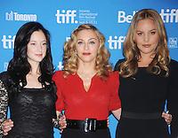 Andrea Riseborough, Madonna y Abbie Cornish en el &quot;nosotros&quot; conferencia de prensa durante el Festival de Cine de Toronto 2011 en el TIFF Bell Lightbox *12*septiembre*2011* en Toronto, Canad&aacute;. <br /> (Foto:&copy;mpi01/MediaPunchinc/NortePhoto.com*)