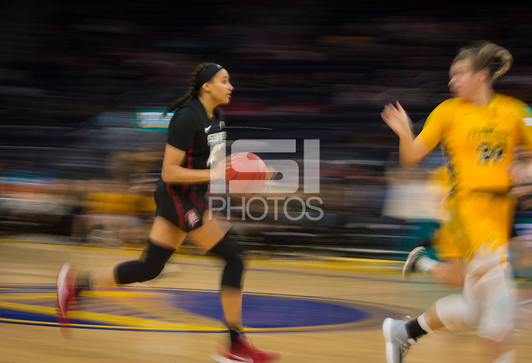 San Francisco, CA - November 9, 2019: Haley Jones at the Chase Center. The Stanford Cardinal defeated the USF Dons 97-71.