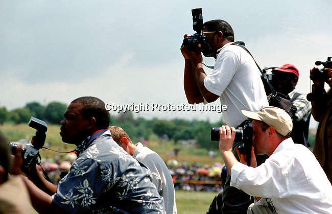 PPOCCUP55129.Photojournalists covering the Royal wedding in Lesotho..©Per-Anders Pettersson/iAfrika Photos
