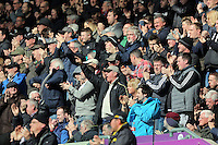 Swansea supporters during the Barclays Premier League match between Swansea City and Chelsea at the Liberty Stadium, Swansea on April 9th 2016