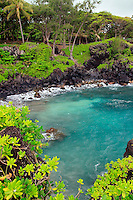 Beautiful water at Wai'anapanapa state park. Hana, Maui, Hawaii