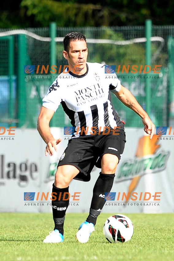 Gaetano D'Agostino Siena.Auronzo di Cadore 25/7/2012.Football Calcio 2012 / 2013 .Amichevole Friendly Match.SS Lazio Vs AC Siena.Foto Insidefoto