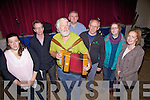 Taking part in the Sea Shanty singing workshop with Paddy's Passion in Portmagee on Sunday were l-r; Karen Cross, Kevin O'Keeffe, Bert Hobo, Peter Mullarkey, Bouka Van Houten, Lies de Corte & Myra Hulme.