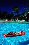 Haiti,lady on raft  Leisure Activity Republic of Haiti Caribbean
