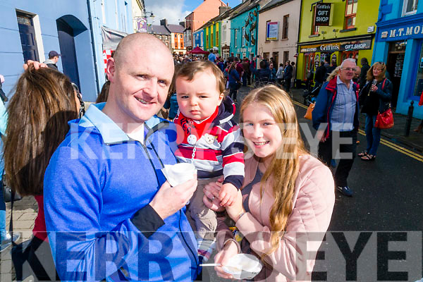 Darragh, Conor and Meah Long, Tralee, pictured at Dingle Food Festival on Saturday.