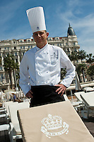 Europe/France/Provence-Alpes-Côte d'Azur/06/Alpes-Maritimes/Cannes: Laurent Bunel chef  du Carlton Beach, restaurant de la Plage du Carlton   [Non destiné à un usage publicitaire - Not intended for an advertising use]
