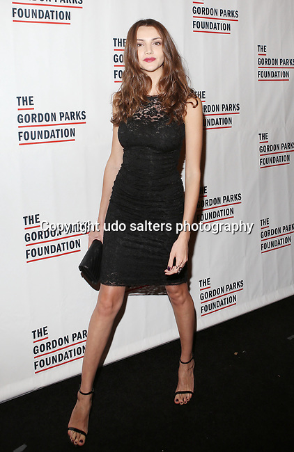 Model Olesya Senchenko attends THE GORDON PARKS FOUNDATION HONORS CONGRESSMAN JOHN LEWIS, MAVIS STAPLES,<br />