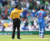 June 18th 2017, The Kia Oval, London, England;  ICC Champions Trophy Cricket Final; India versus Pakistan; umpire signals LBW for Rohit Sharma of India