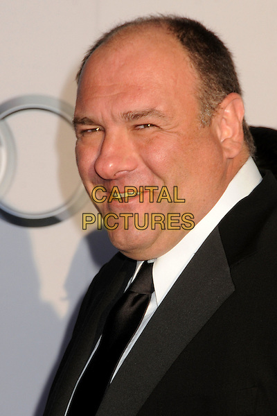 James Gandolfini.BAFTA Brits to Watch Event held at the Belasco Theatre, Los Angeles, California, USA, 9th July 2011..portrait headshot white black side tie smiling .CAP/ADM/BP.©Byron Purvis/AdMedia/Capital Pictures.