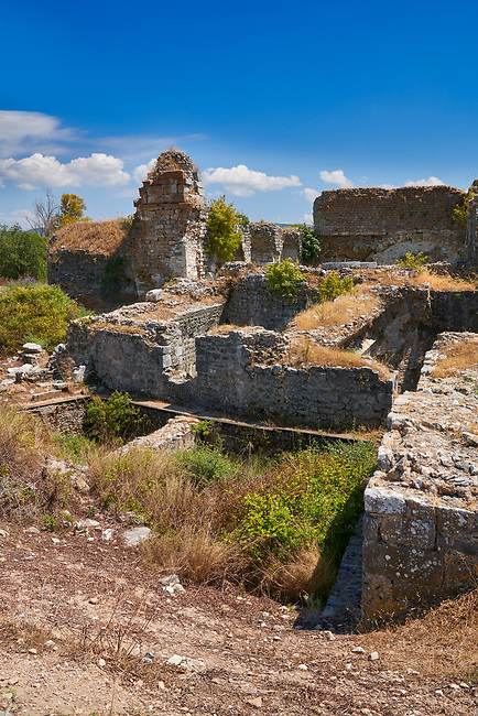 Roman Baths of Faustina established by Faustina the Younger, wife of the Emperor Marcus Aurelius (161-180 AD). Miletus Archaeological Site, Anatilia, Turkey.