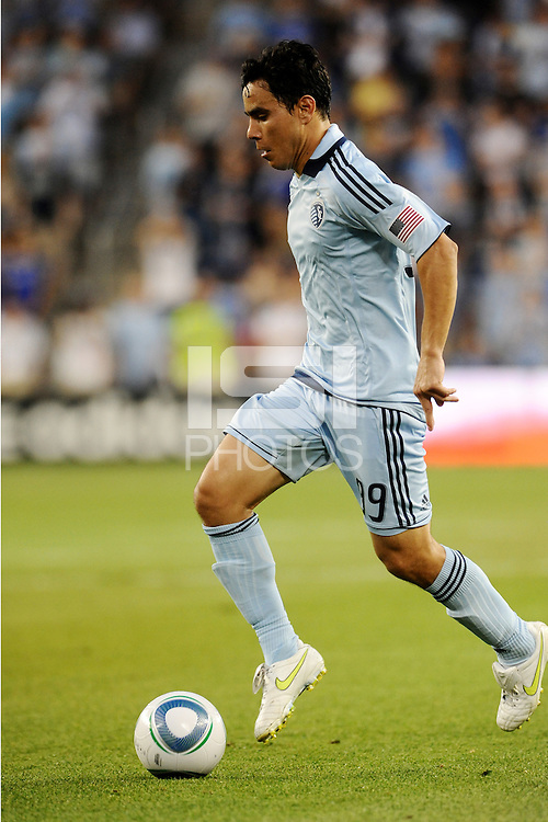 Omar Bravo (99) midfielder Sporting KC in action...Sporting KC defeated San Jose Earthquakes 1-0 at LIVESTRONG Sporting Park, Kansas City ,Kansas,...