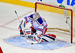 4 December 2008: New York Rangers' goaltender Henrik Lundqvist from Sweden makes a save in the second period against the Montreal Canadiens during their first meeting of the season at the Bell Centre in Montreal, Quebec, Canada. The Canadiens, celebrating their 100th season, played in the circa 1915-1916 uniforms for the evenings' Original Six matchup. *****Editorial Use Only*****..Mandatory Photo Credit: Ed Wolfstein Photo