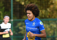 20191116 – WONDELGEM, BELGIUM : Gent's Kassandra Missipo  pictured during a women soccer game between AA Gent Ladies and Eendracht Aalst in the ¼  quarter finals of the Belgium Women's Cup Competition  season 2019-2020 , saturday 16 th November 2019 at the Neptunus site stadium in Wondelgem,  Gent  , Belgium  .  PHOTO SPORTPIX.BE | DIRK VUYLSTEKE