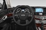 Car pictures of steering wheel view of a 2015 Infiniti Q70 Base 5 Door Sedan Steering Wheel