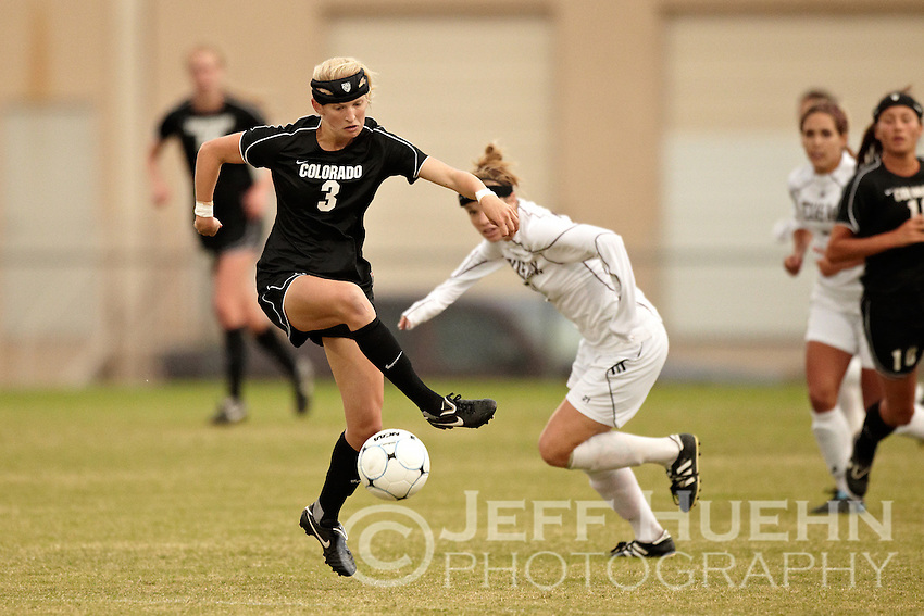 SAN ANTONIO, TX - NOVEMBER 3, 2010: The Texas A&M University Aggies vs. the University of Colorado Buffaloes in the Big 12 Women's Soccer Championship Quarterfinals at the Blossom Soccer Stadium. (Photo by Jeff Huehn)