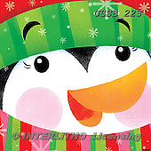 Sarah, CHRISTMAS ANIMALS, WEIHNACHTEN TIERE, NAVIDAD ANIMALES, paintings+++++PenguinFace-11-A,USSB223,#xa# ,penguins