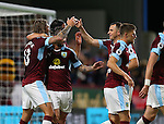 Jeff Hendrick of Burnley celebrates scoring the first goal during the Premier League match at Turf Moor Stadium, Burnley. Picture date: September 26th, 2016. Pic Simon Bellis/Sportimage