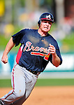 2 March 2010: Atlanta Braves second baseman Brooks Conrad in action against the New York Mets during the Opening Day of Grapefruit League play at Tradition Field in Port St. Lucie, Florida. The Mets defeated the Braves 4-2 in Spring Training action. Mandatory Credit: Ed Wolfstein Photo