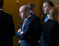 Senior Advisor for Policy Stephen Miller participates in a meeting on Capitol Hill in Washington, DC, May 14, 2019. Credit: Chris Kleponis / CNP/AdMedia