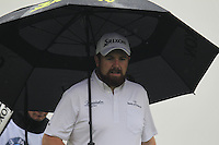 Shane Lowry (IRL) walks off the 2nd tee during Thursday's Round 1 of the 2014 BMW Masters held at Lake Malaren, Shanghai, China 30th October 2014.<br /> Picture: Eoin Clarke www.golffile.ie