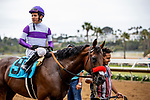 AUG 11: Mario Gutierrez after a race at The Del Mar Thoroughbred Club in Del Mar, California on August 11, 2019. Evers/Eclipse Sportswire/CSM