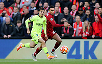 Barcelona's Philippe Coutinho vies for possession with Liverpool's Trent Alexander-Arnold<br /> <br /> Photographer Rich Linley/CameraSport<br /> <br /> UEFA Champions League Semi-Final 2nd Leg - Liverpool v Barcelona - Tuesday May 7th 2019 - Anfield - Liverpool<br />  <br /> World Copyright © 2018 CameraSport. All rights reserved. 43 Linden Ave. Countesthorpe. Leicester. England. LE8 5PG - Tel: +44 (0) 116 277 4147 - admin@camerasport.com - www.camerasport.com