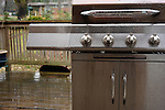 Atlanta, Ga  March, 2008.Made in China, this stainless steel grill holds up under the rain in the United States.