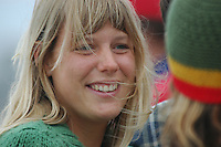 Saturday, June 14, 2008, Tourmaline Surf Park, Pacific Beach, San Diego, CA, USA.  Faces in the crowd at the Pacific Beach Surf Club's Tenth Annual Longboard Classic at Tourmaline Surfing Park.  The event was well attended despite gray, June gloom clouds and fickle, windy surf conditions.