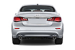 Straight rear view of a 2015 Infiniti Q70 Premium 4 Door Sedan 2WD Rear View  stock images