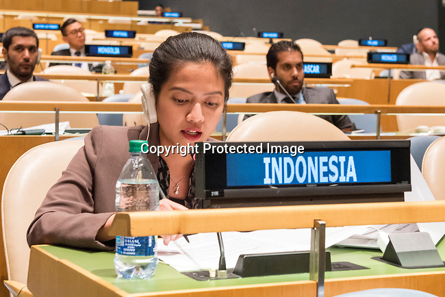 The representative of Indonesia exercises her country&rsquo;s right of reply during the general debate of the General Assembly&rsquo;s seventy-first session<br /> <br /> <br /> <br /> General Assembly Seventy-first session 20th plenary meeting<br /> <br /> General Debate