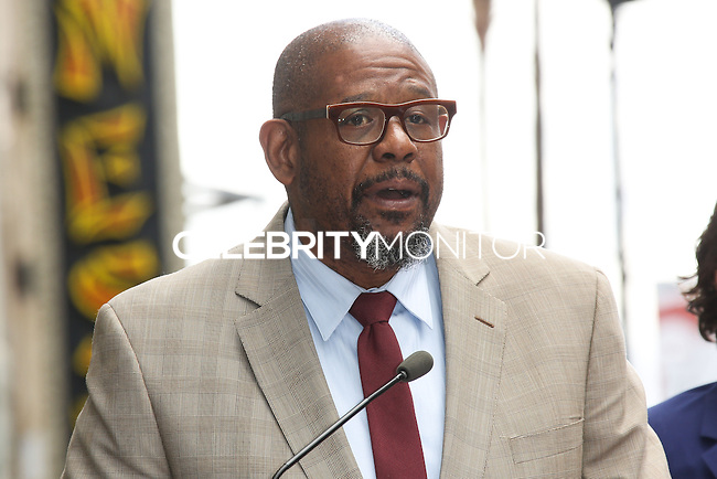 HOLLYWOOD, LOS ANGELES, CA, USA - APRIL 02: Forest Whitaker at Orlando Bloom's star ceremony on the Hollywood Walk of Fame (2,521st star) in the category of Motion Pictures held at 6927 Hollywood Boulevard (next to TCL Chinese Theatre and Madame Tussauds Hollywood) on April 2, 2014 in Hollywood, Los Angeles, California, United States. (Photo by Celebrity Monitor)