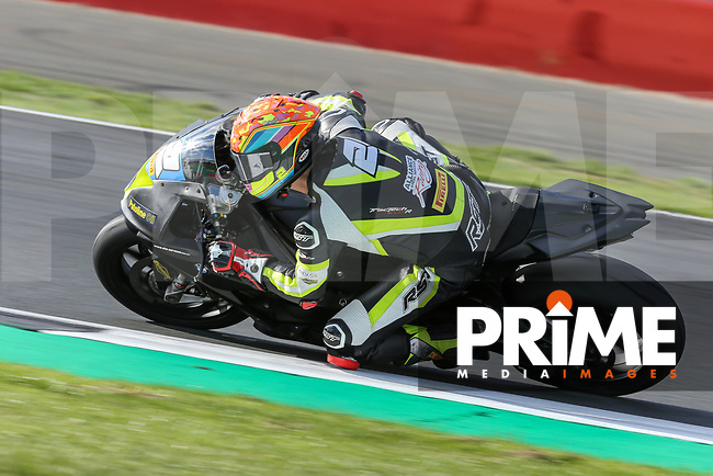 Jordan RUSHBY (2) of the Pirelli National Superstock 1000 Championship in association with Black Horse BMW Alliance Steel Racing team during Free Practice 2 at Round 9 of the 2018 British Superbike Championship at Silverstone Circuit, Towcester, England on Friday 7 September 2018. Photo by David Horn.